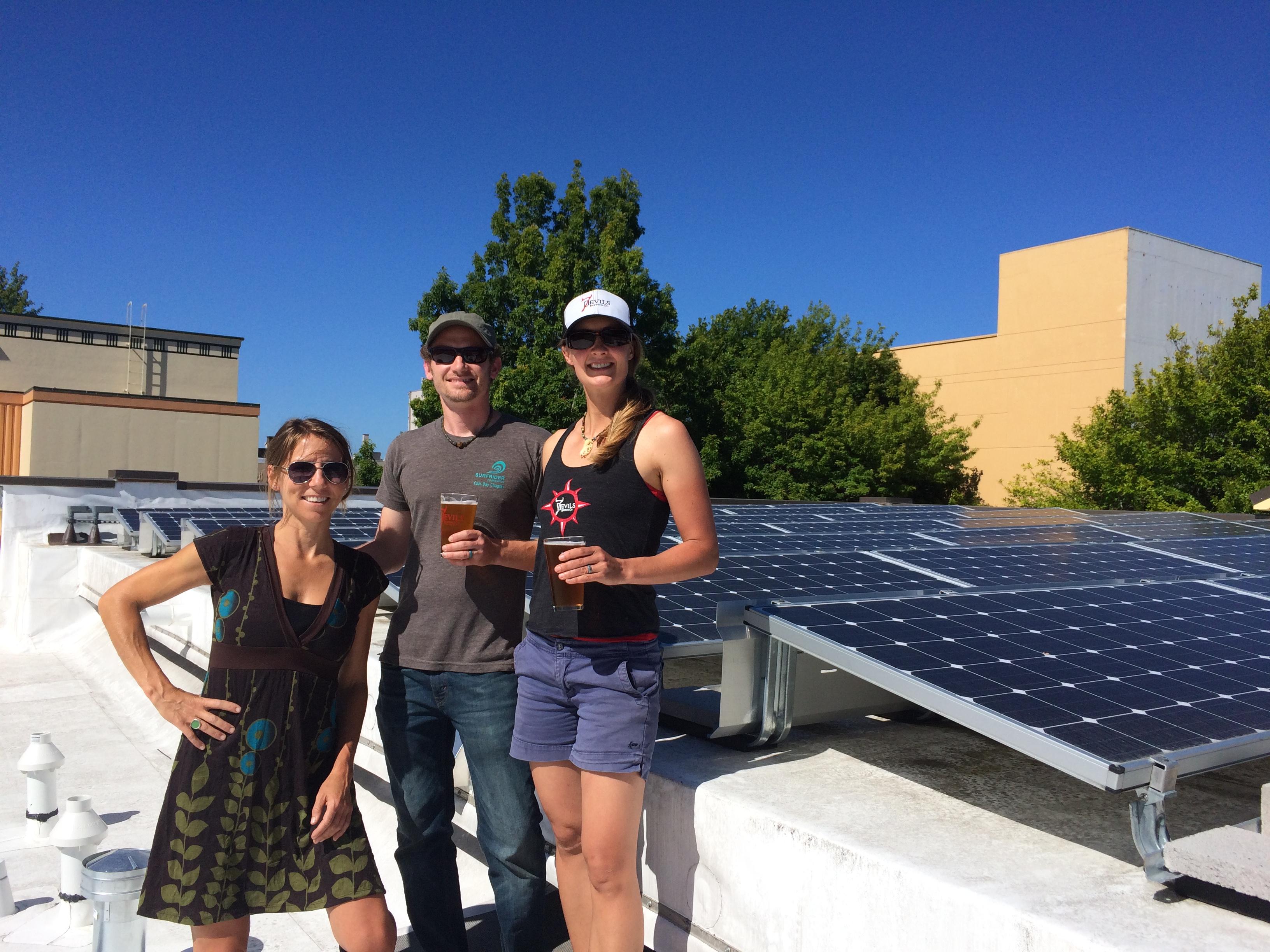 7 Devils Brewing Co solar installation.